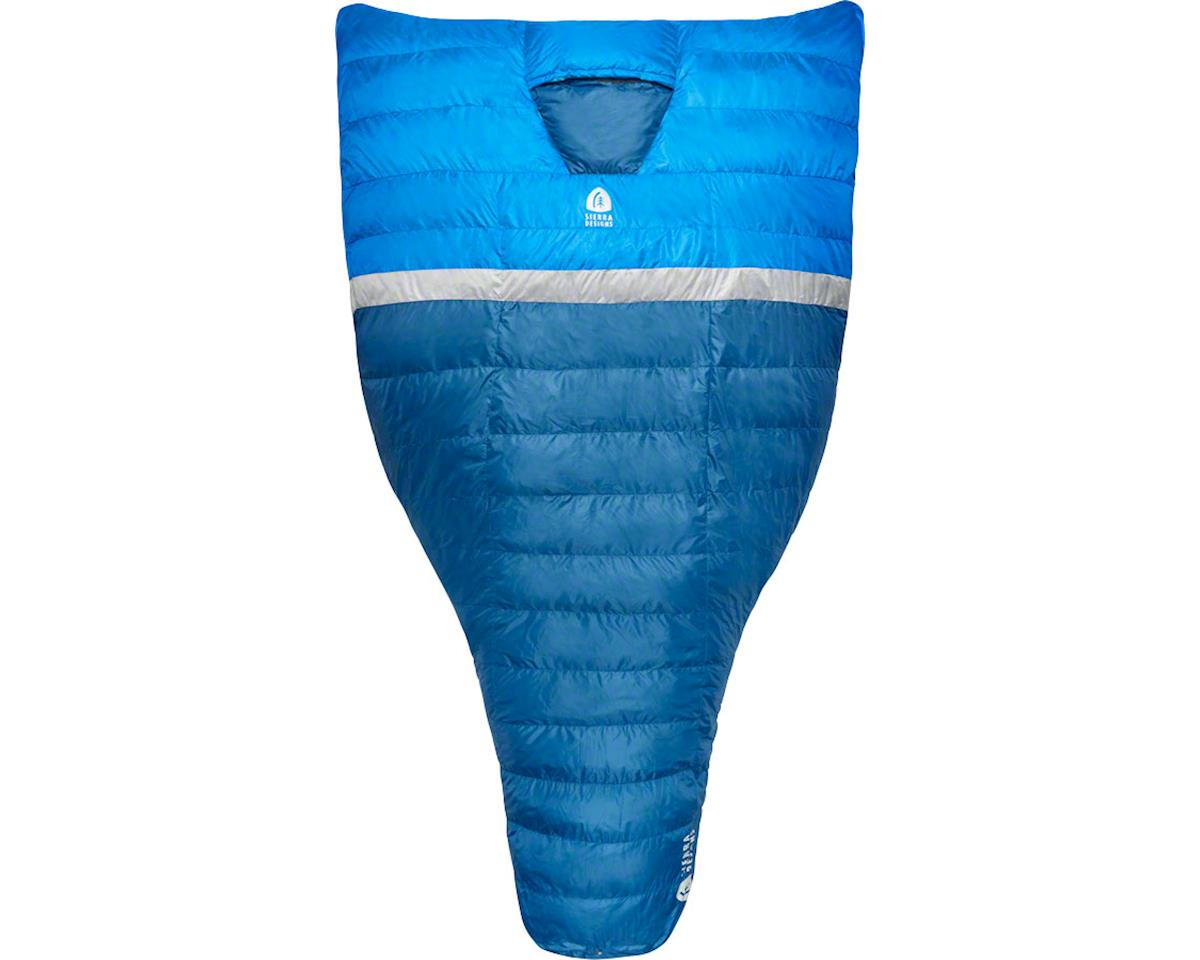 Sierra Designs BackCountry Quilt Sleeping Bag, 35F, 700fill DriDown, Blue