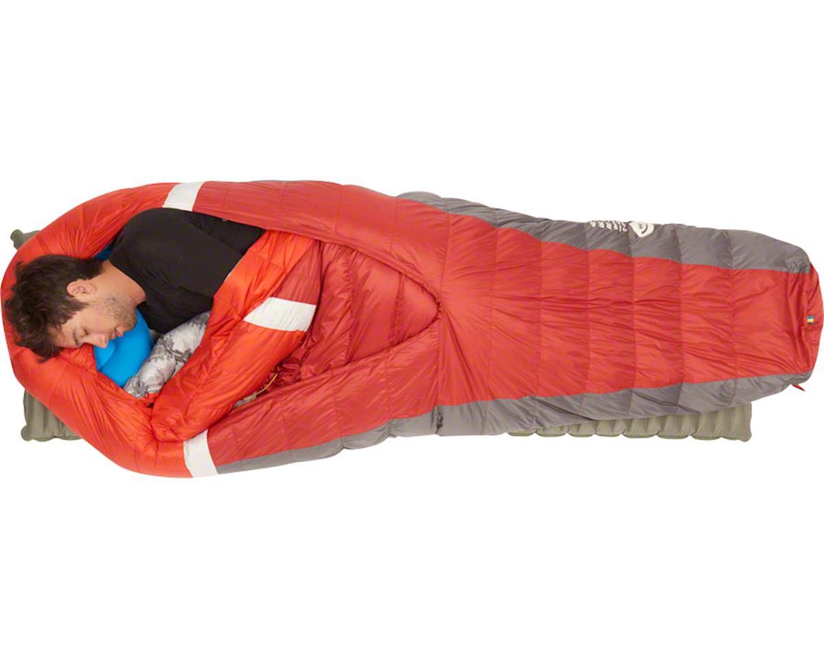 Sierra Designs BackCountry Bed Sleeping Bag, 20F, 700fill DriDown, Long, Red/Gra