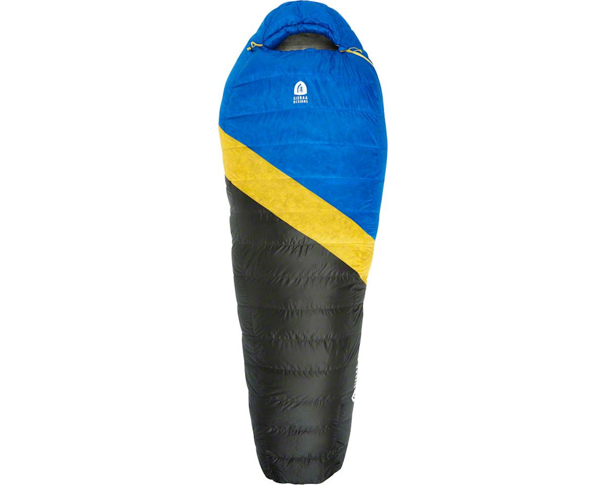 Sierra Designs Nitro Mummy Sleeping Bag, 35F, 800fill DriDown, Long, Blue/Yellow