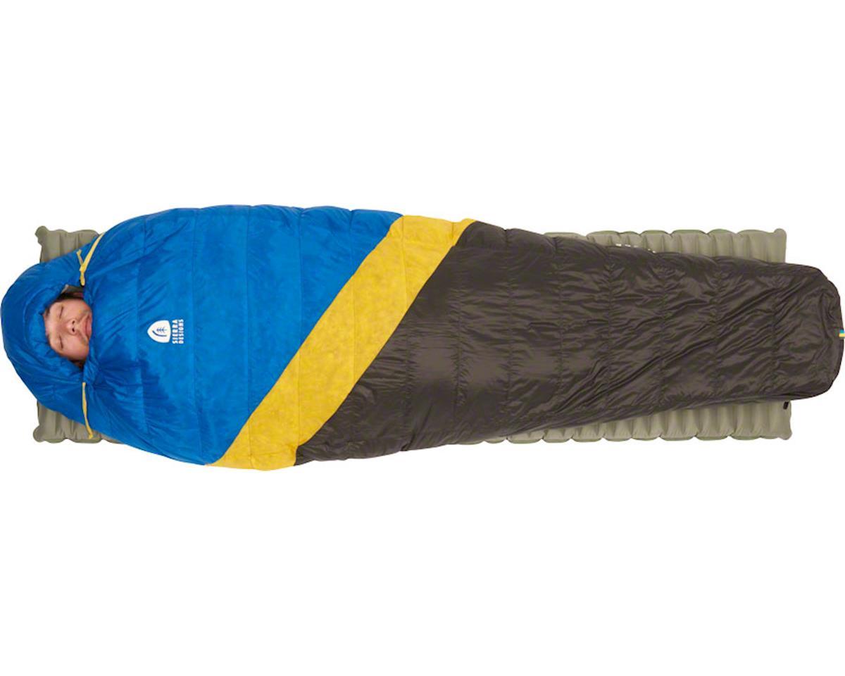 Sierra Designs Nitro Mummy Sleeping Bag, 35F, 800fill DriDown, Regular, Blue/Yel