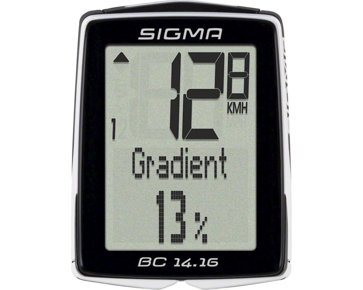 Sigma BC 14.16 Bike Computer - Wired, Black
