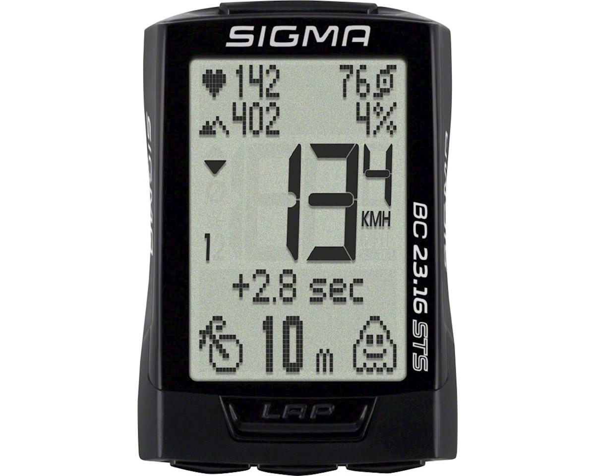 Sigma BC 23.16 STS Triple Wireless Bike Computer - Wireless, Black