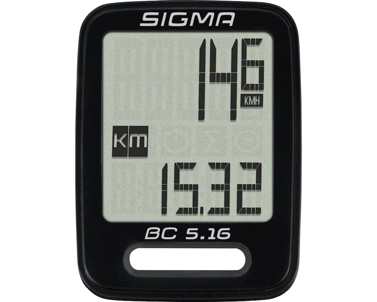 Sigma BC 5.16 Bike Computer - Wired, Black
