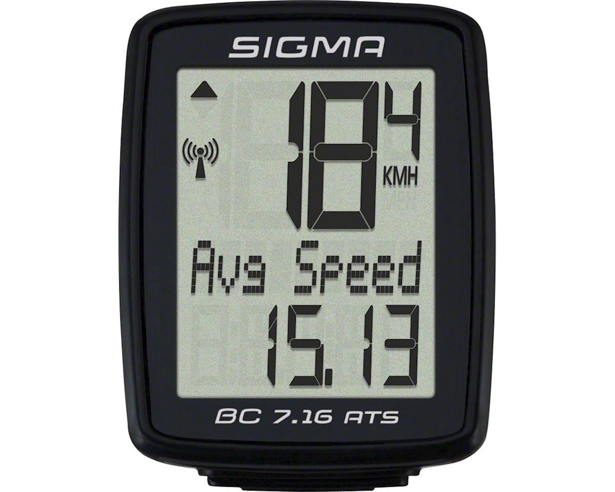 Sigma BC 7.16 ATS Bike Computer - Wireless, Black