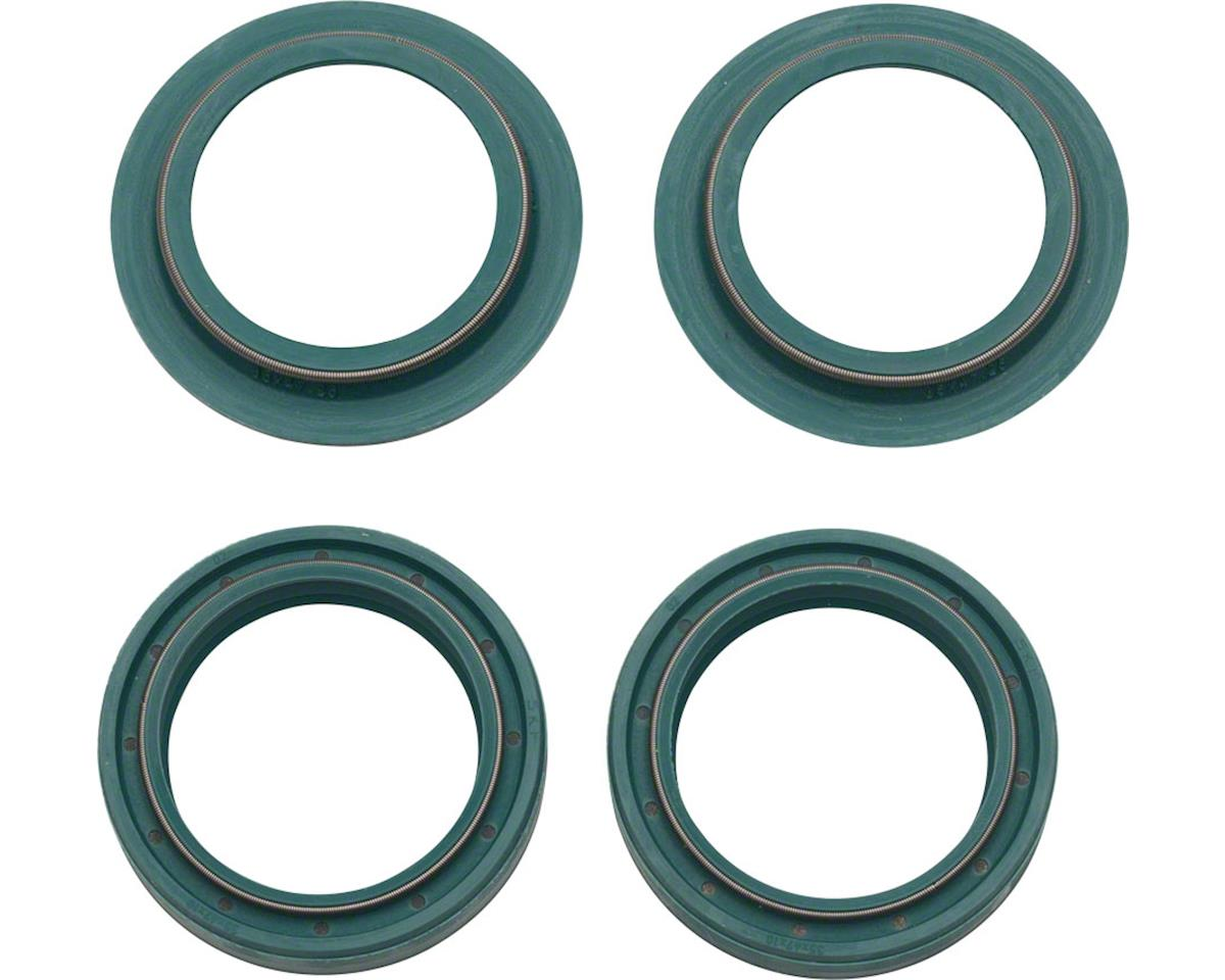 Skf Low-Friction Dust and Oil Seal Kit: Marzocchi 35mm, Fits 2008-2014 Forks