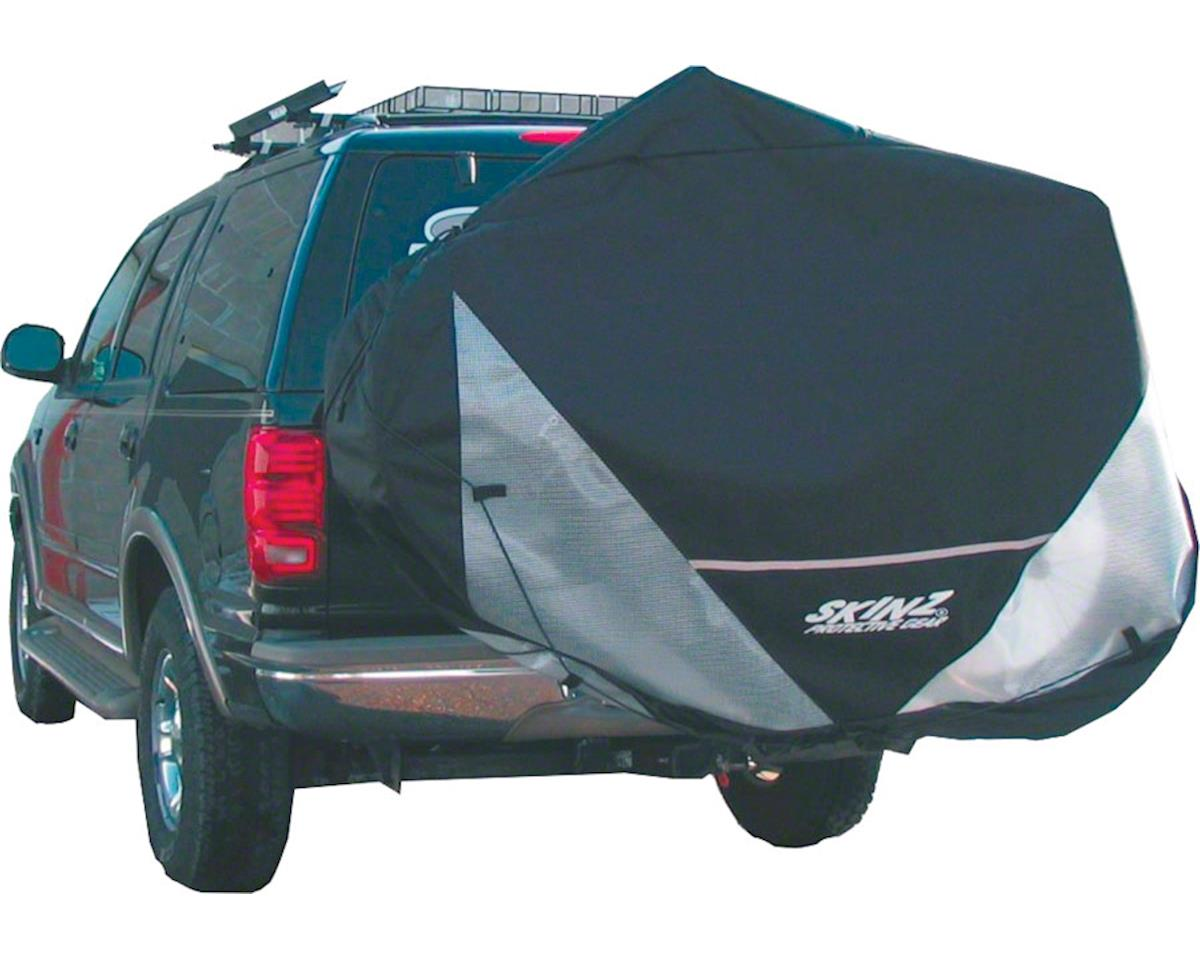 Skinz Hitch Rack Rear Transport Cover: Fits 1-2 Bikes~ Black~ Standard