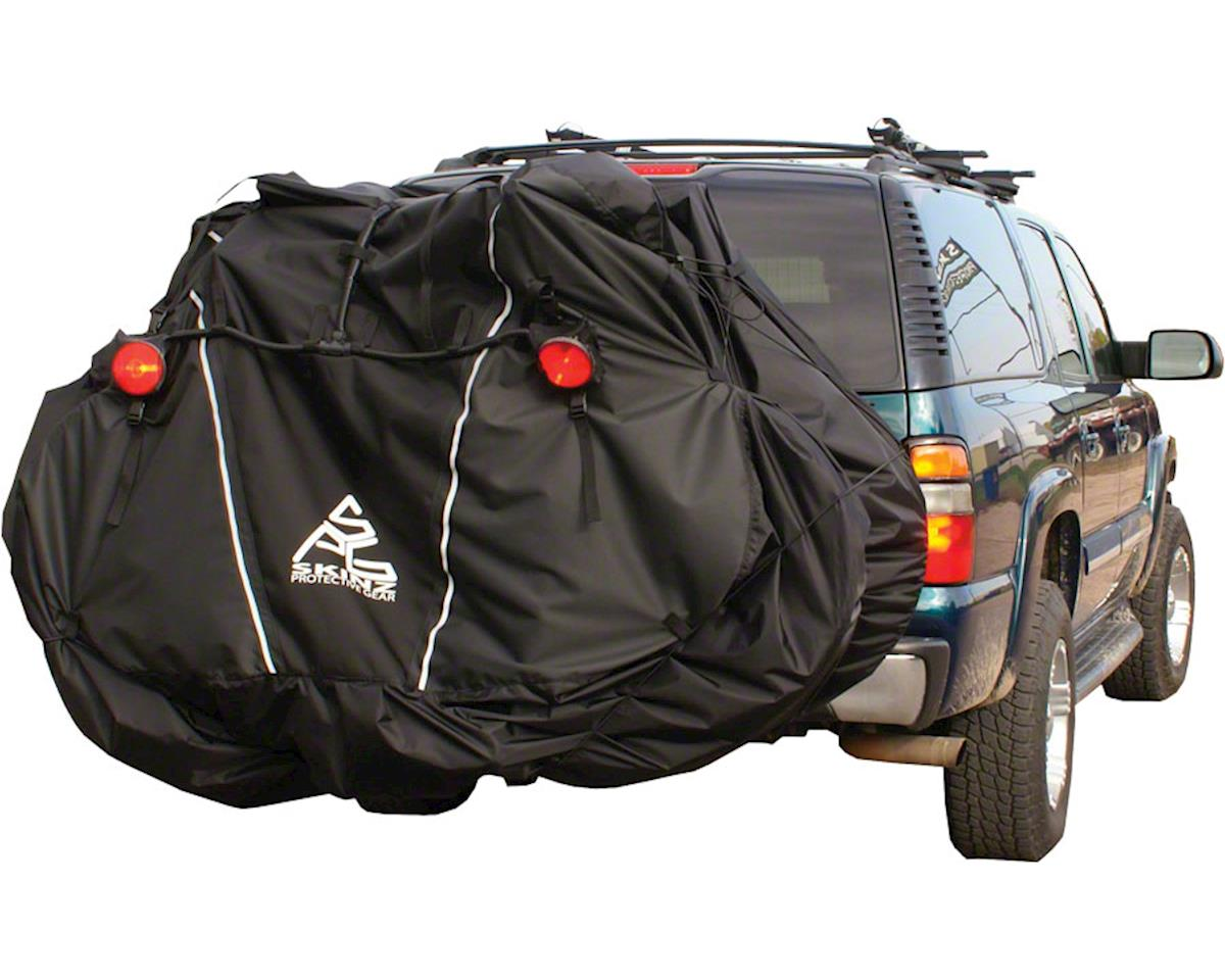 Skinz Hitch Rack Rear Transport Cover with Light Kit: Fits 4-5 Bikes~ Black~ X-L