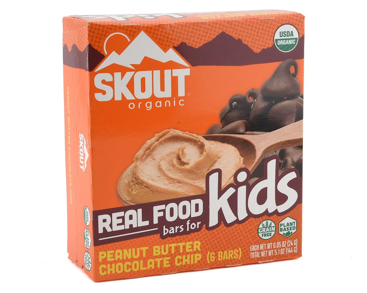 Skout Organic Real Food Bars for Kids  (6 Count) (Peanut Butter Chocolate Chip)