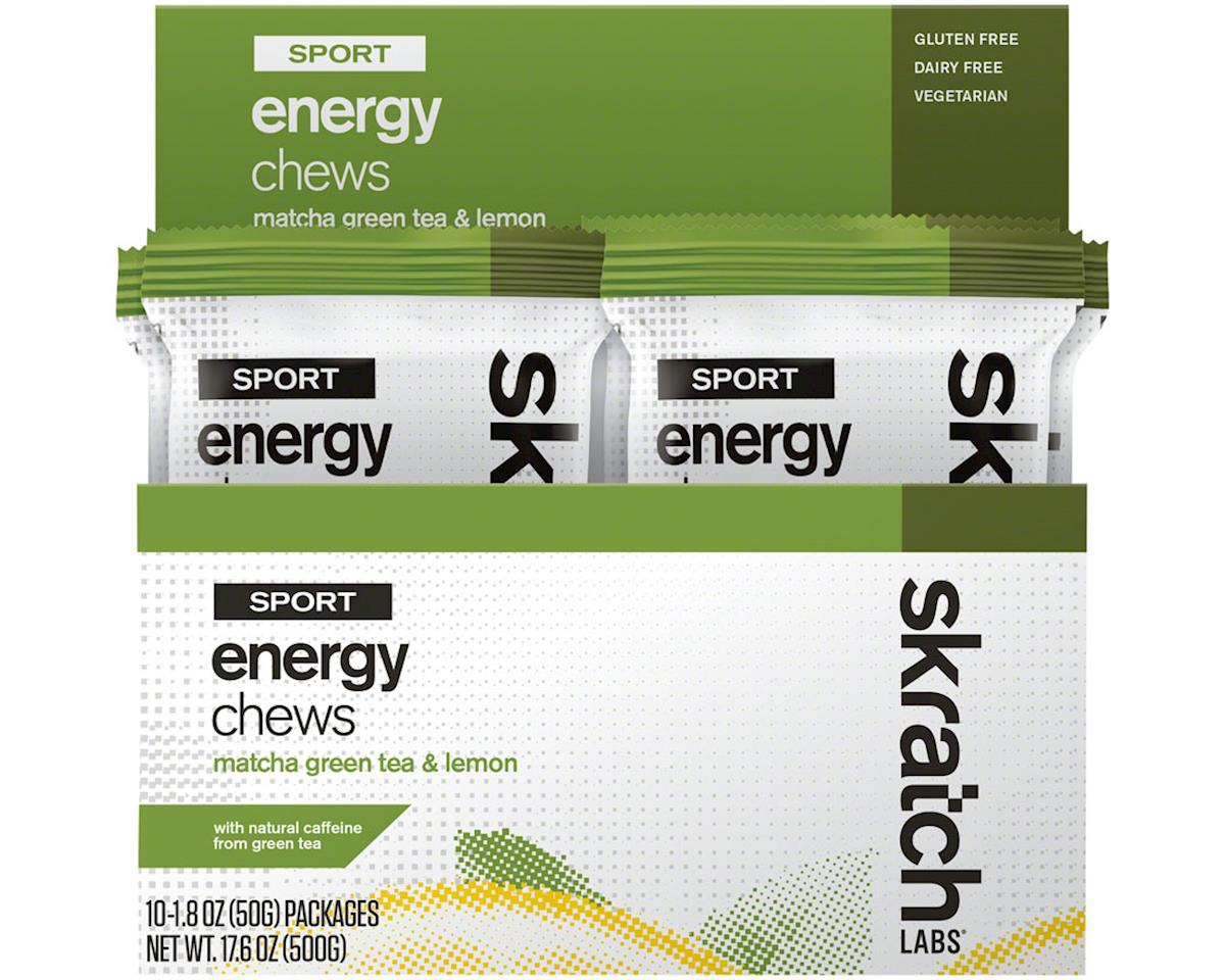 Skratch Labs Sport Energy Chews: Matcha Green Tea and Lemon, Box of 10