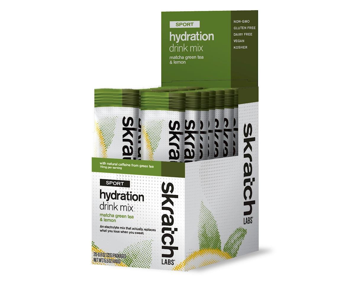 Skratch Labs Sport Hydration Drink Mix - Single Serving 20 Pack (Green Tea)