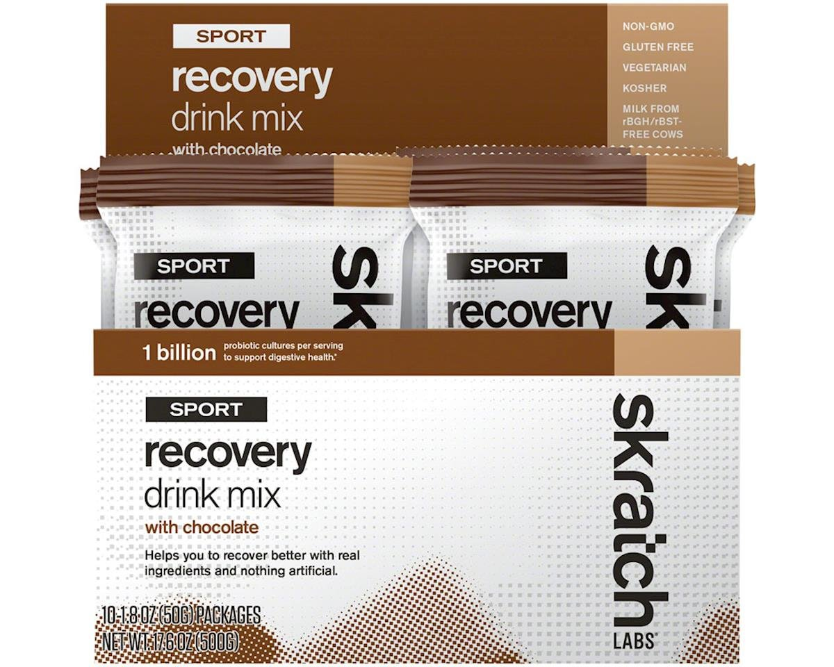 Skratch Labs Sport Recovery Drink Mix: Chocolate, Box of 10