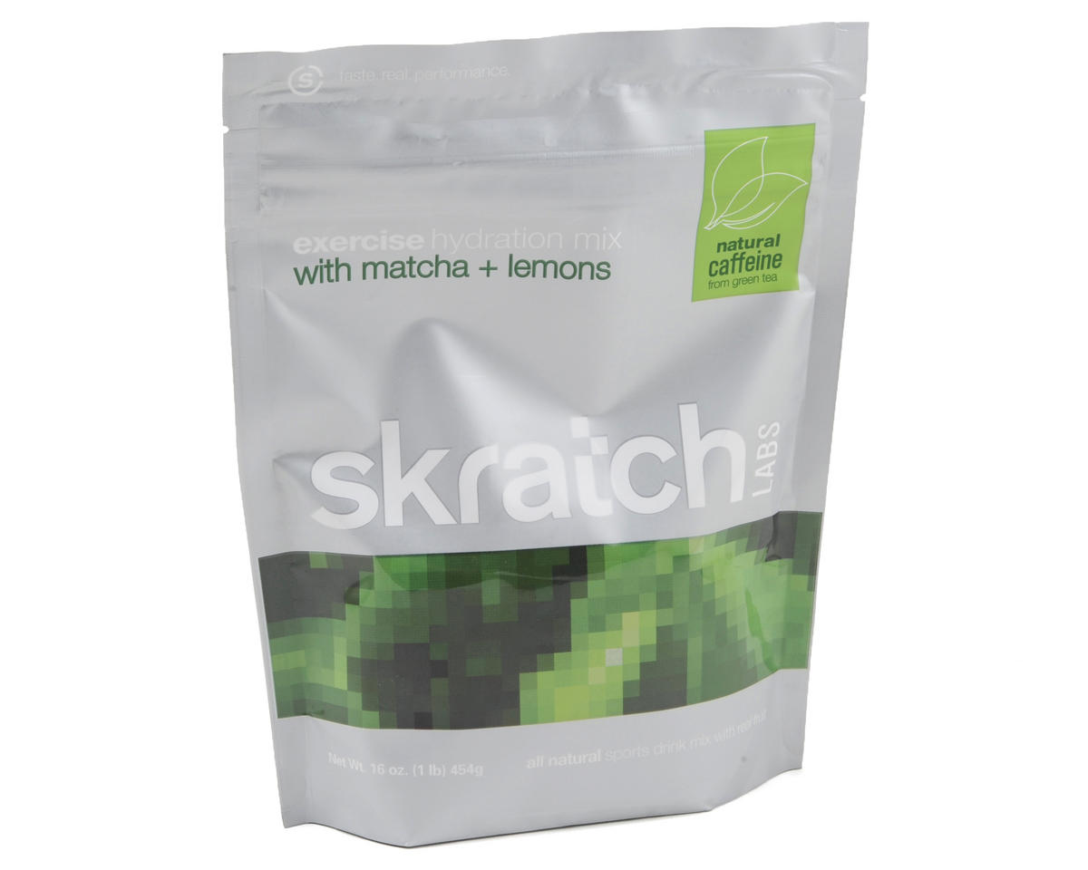 Skratch Labs Exercise Hydration Mix (Resealable 1lb Bag, 40 Servings) (Matcha + Lemons)