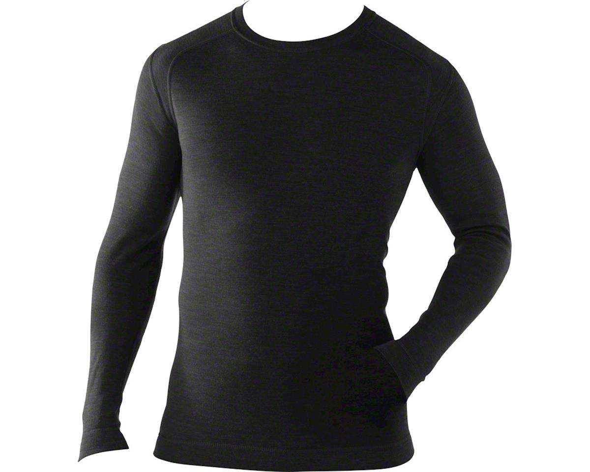 Smartwool Midweight Crew Men's Long Sleeve Base Layer Top: Black 2XL
