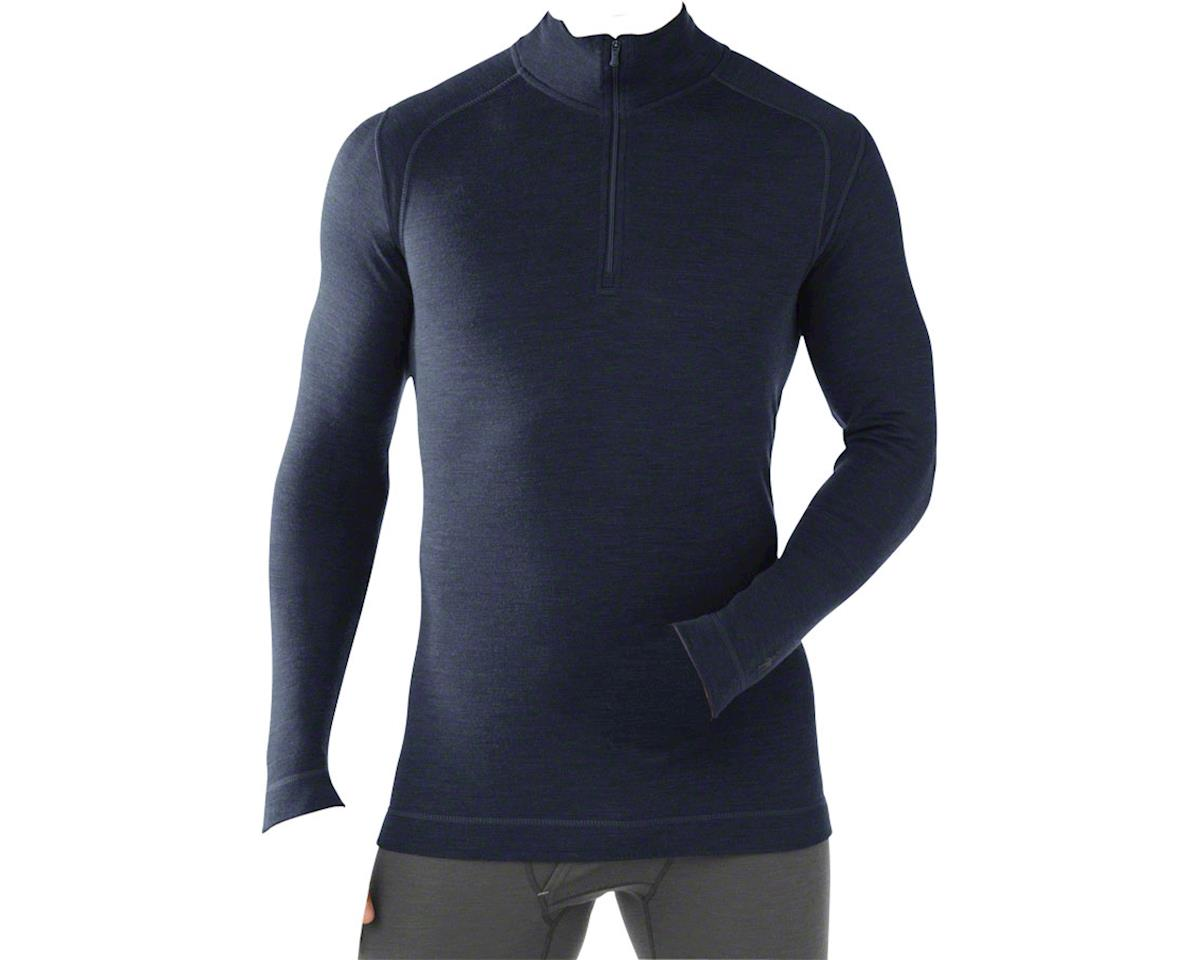 Smartwool Midweight Zip Men's Long Sleeve Base Layer Top: Black 2XL