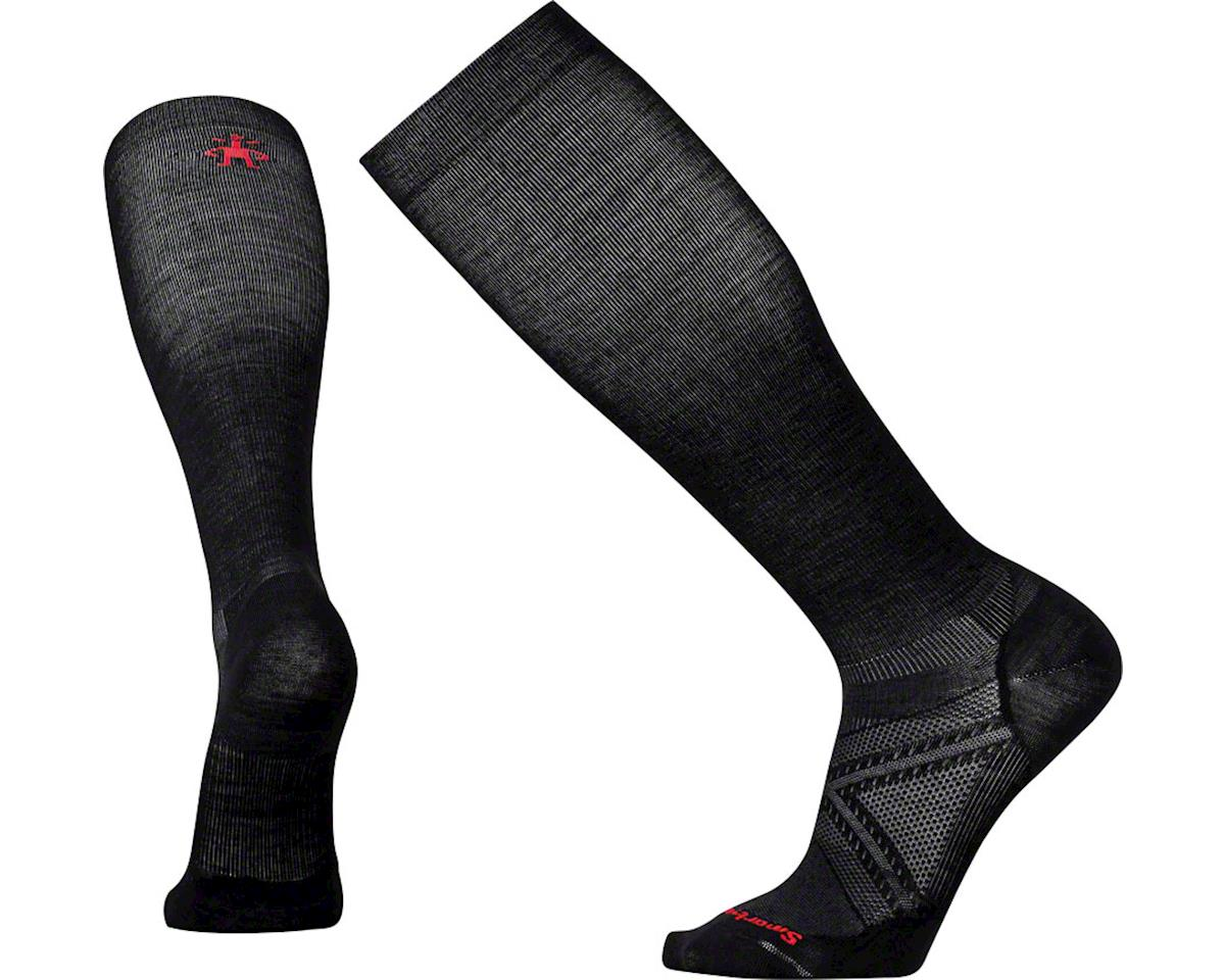 Smartwool Run Graduated Compression Ultra Light Sock: Black XL
