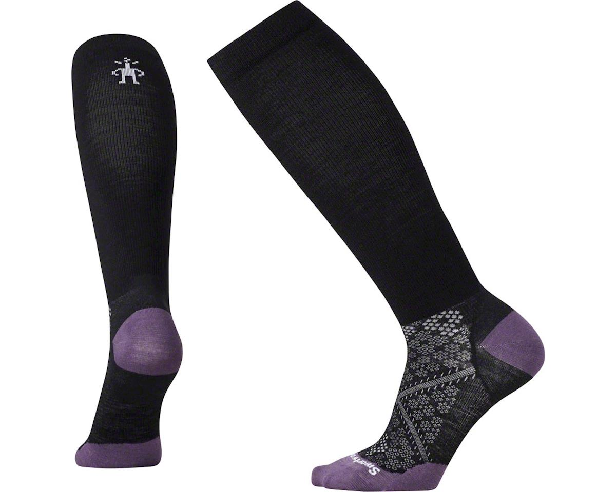 Smartwool Run Graduated Compression Ultra Light Women's Sock: Black LG
