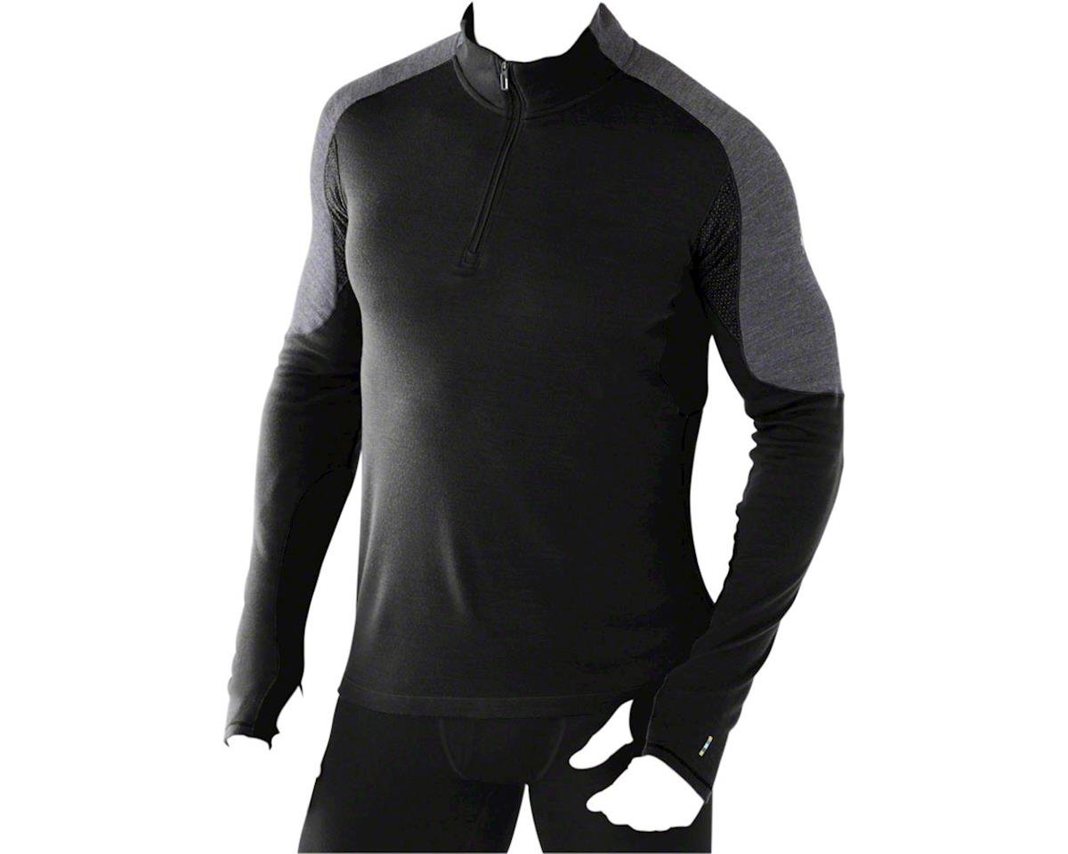 PhD Light Men's Long Sleeve 1/4 Zip Base Layer Top: Black LG