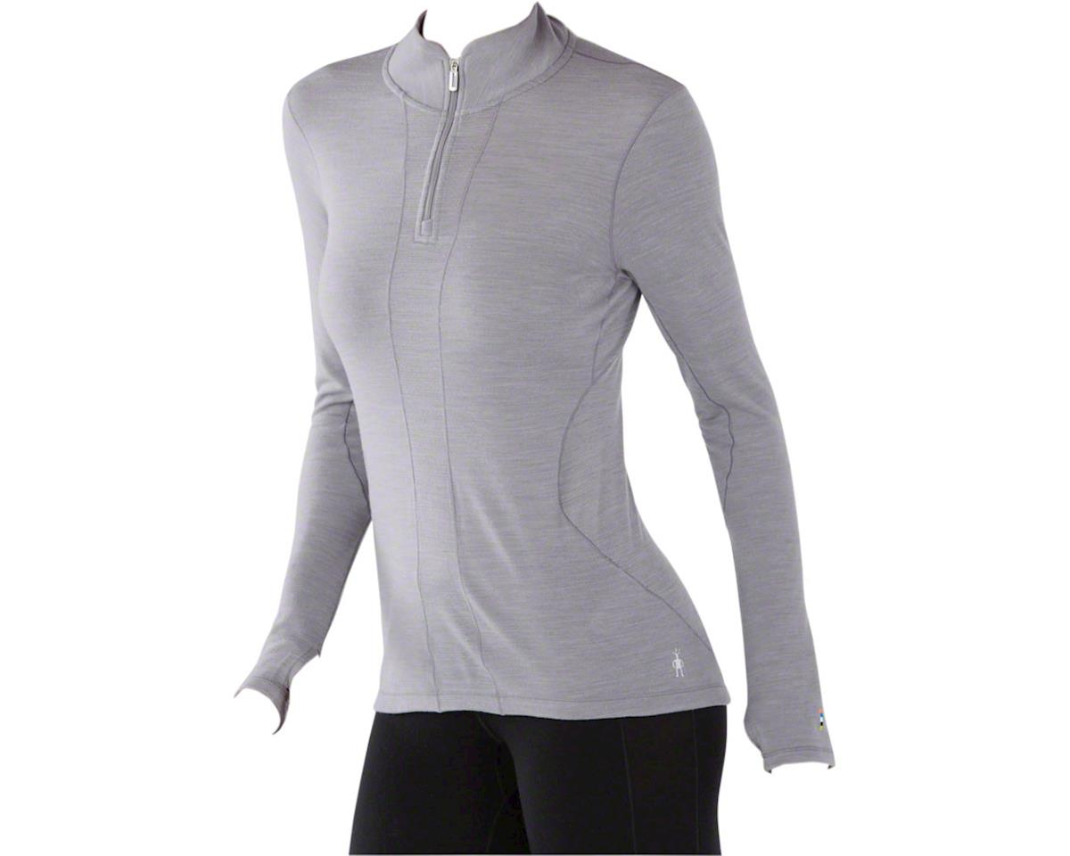 Smartwool PhD Light Women's Long Sleeve 1/4 Zip Base Layer Top: Light Gray LG