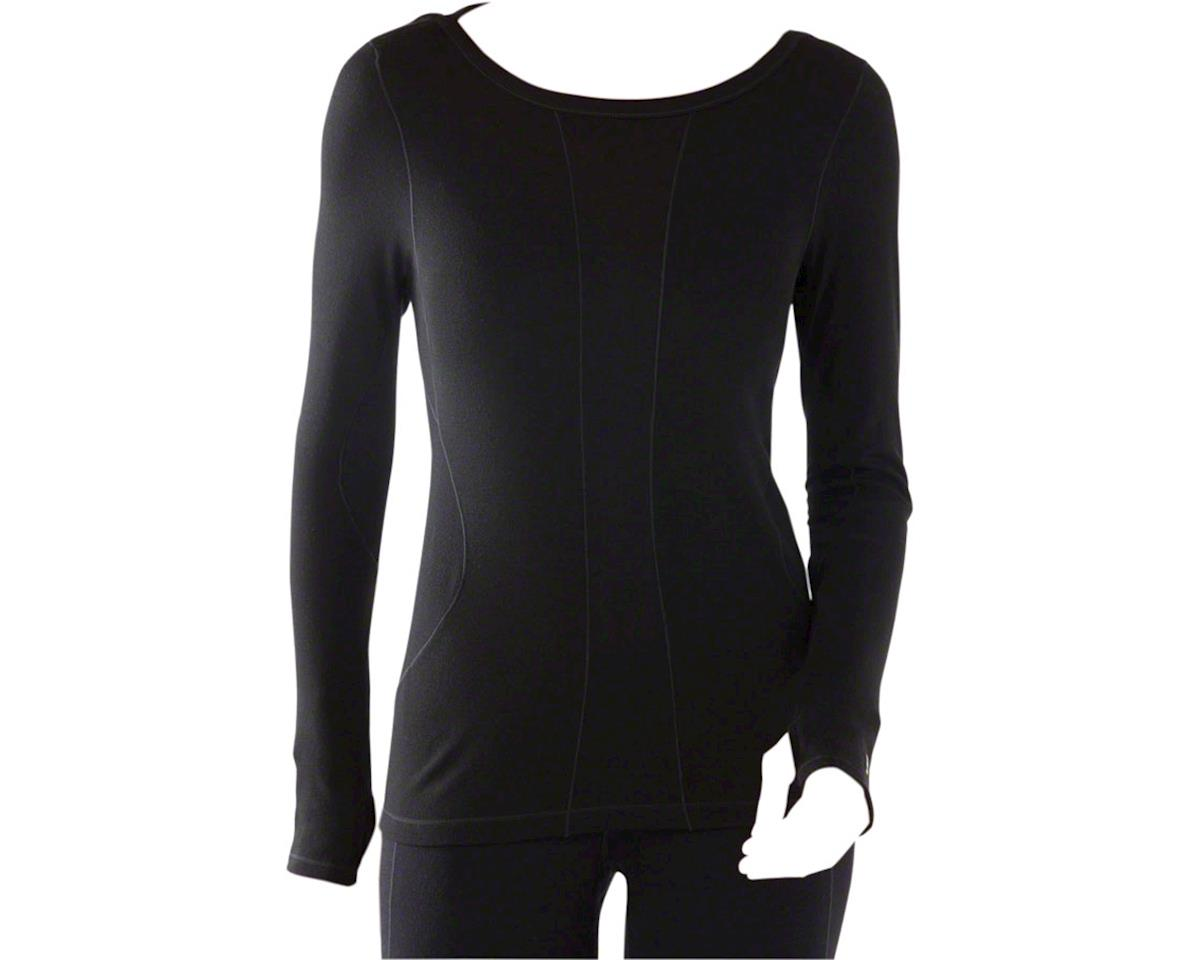 Smartwool PhD Light Women's Long Sleeve Base Layer Top: Black LG