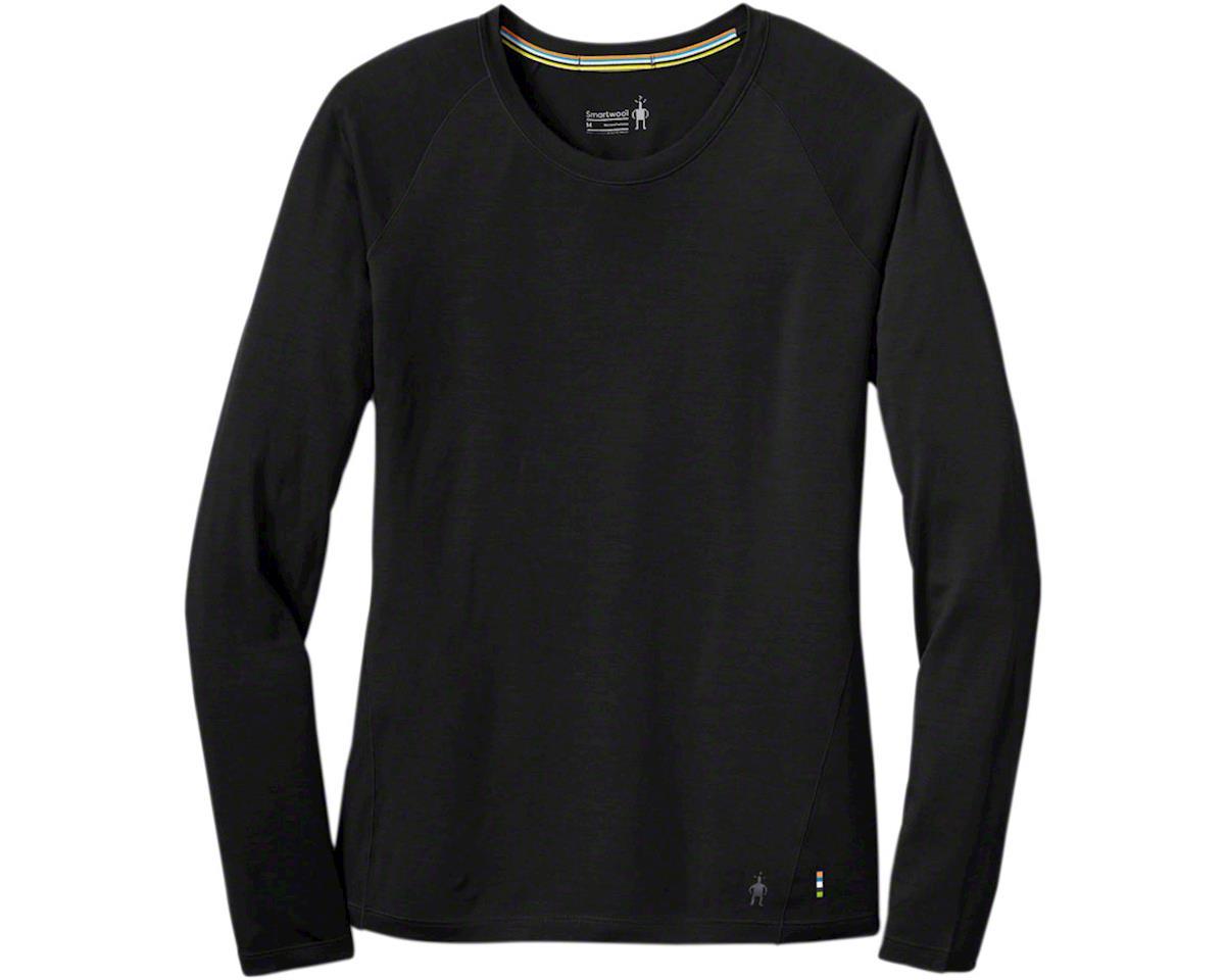Merino 150 Women's Long Sleeve Base Layer Top: Black LG