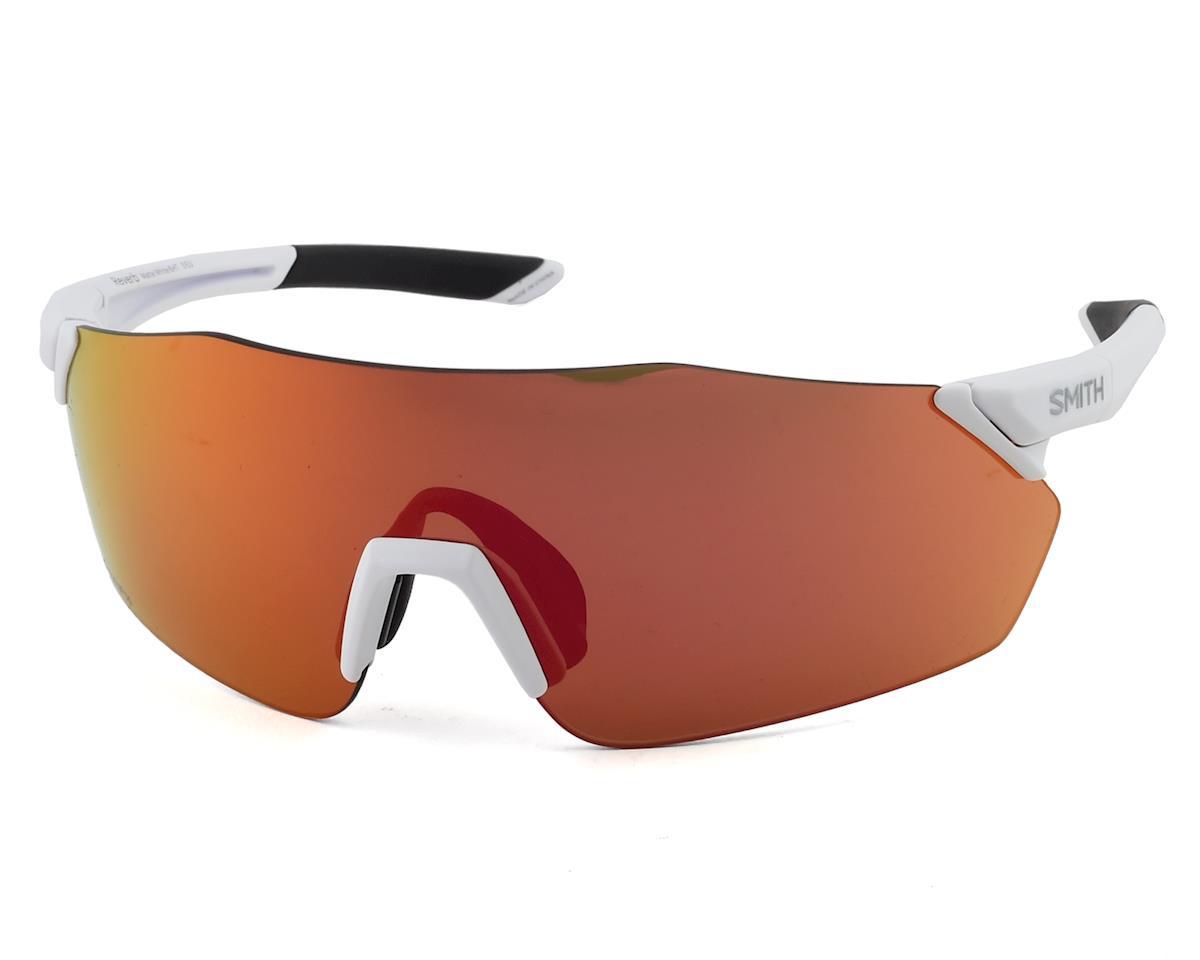 Smith Reverb Sunglasses (Matte White) (ChromaPop Red Mirror)