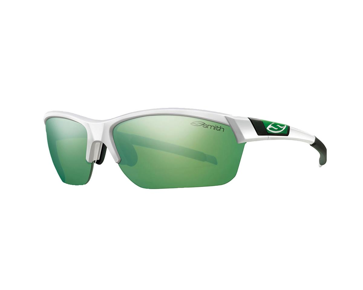 Smith Approach Max Sunglasses (White/ Green Sol-X)