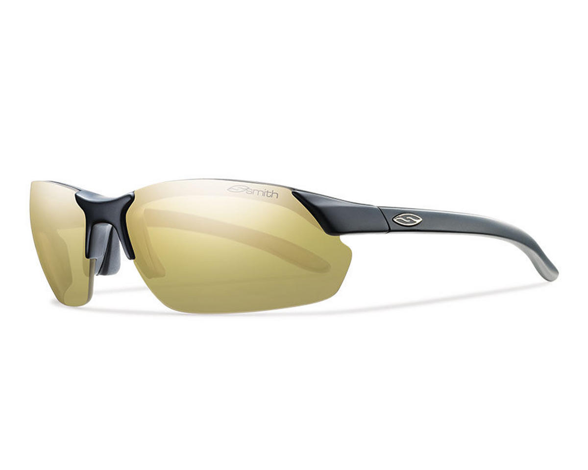 Smith Parallel Sunglasses (Matte Black) (Polarized Gold Mirror)
