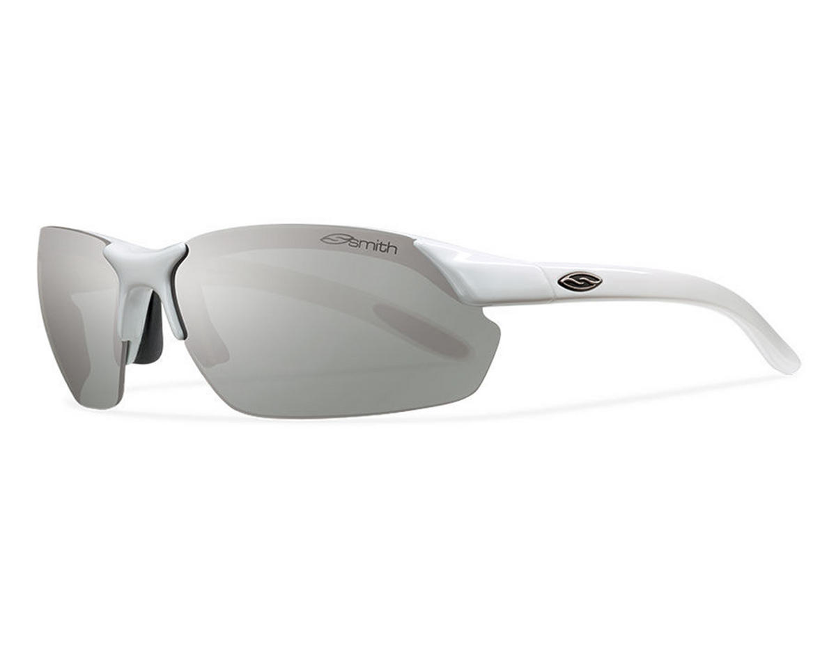 Smith Parallel Sunglasses (White) (Polarized Platinum)
