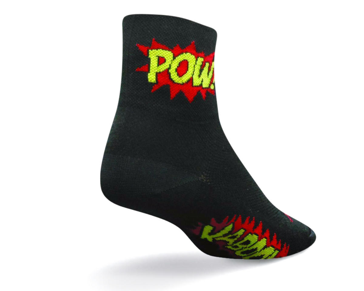 SockGuy Boom Pow Sock Black Large//XL