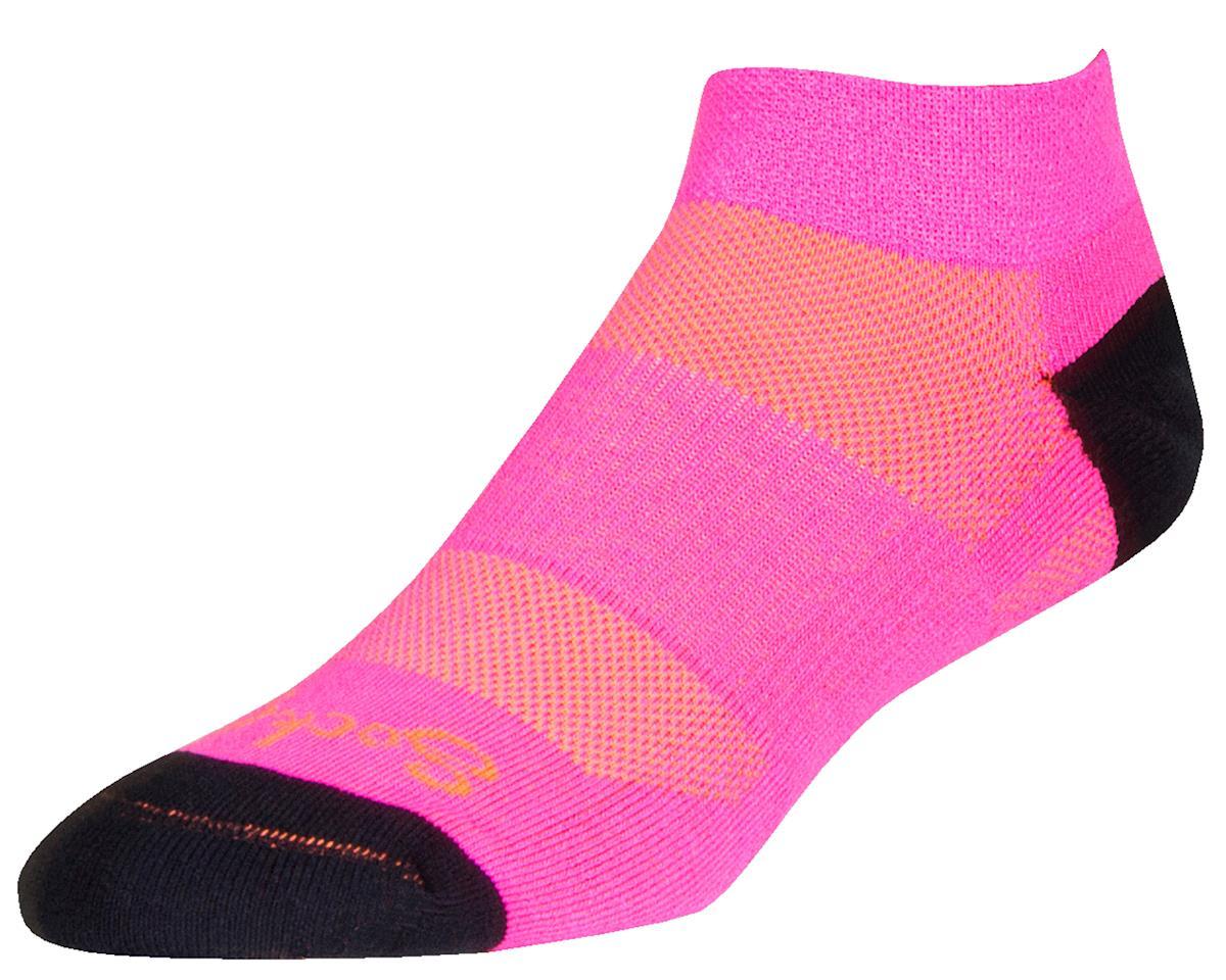 """Sockguy Woman's Channel Air 1"""" Cuff Socks (Bubblegum) (S/M)"""