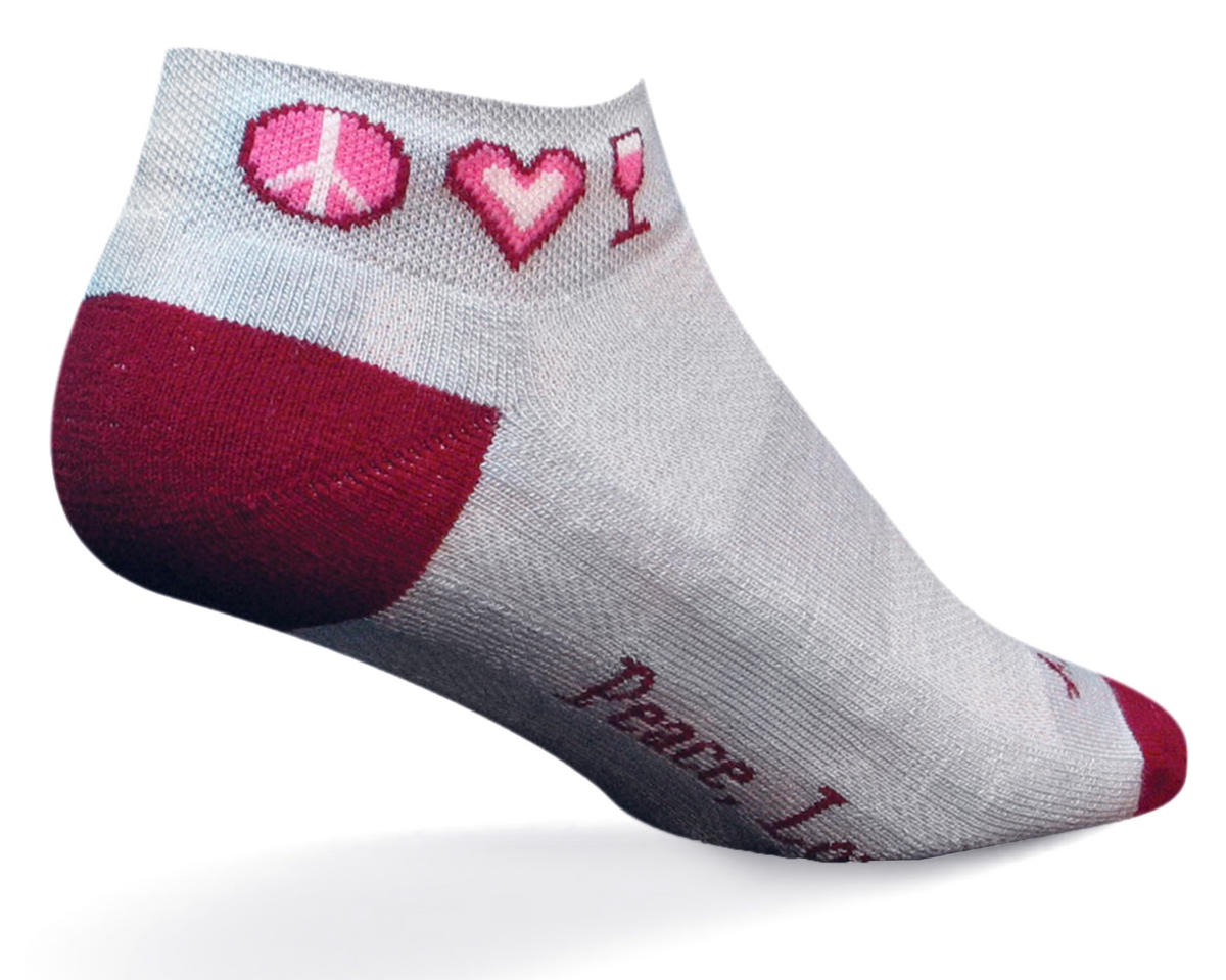 Sockguy Peace Love Wine Women's Channel Air Socks (S/M)