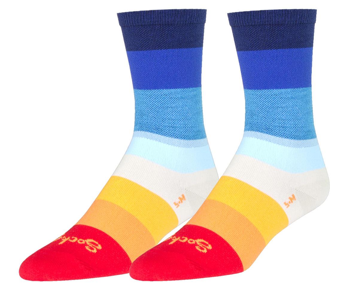 """Sockguy 6"""" Crew Socks (70's) (L/XL)"""
