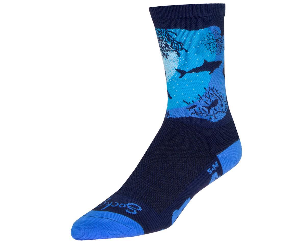 """Sockguy 6"""" Socks (Abyss) (L/XL)"""