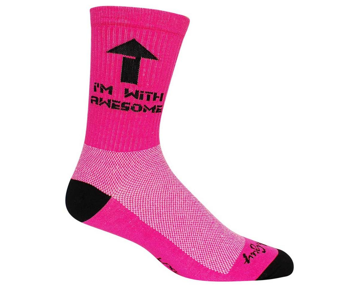 "Sockguy Awesome Pink 6"" Acrylic Crew Socks (S/M)"