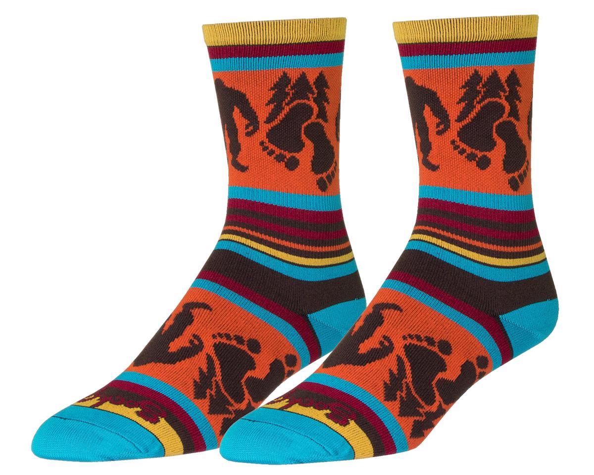 Sockguy Big Footin Crew Socks (Orange/Black/Blue)