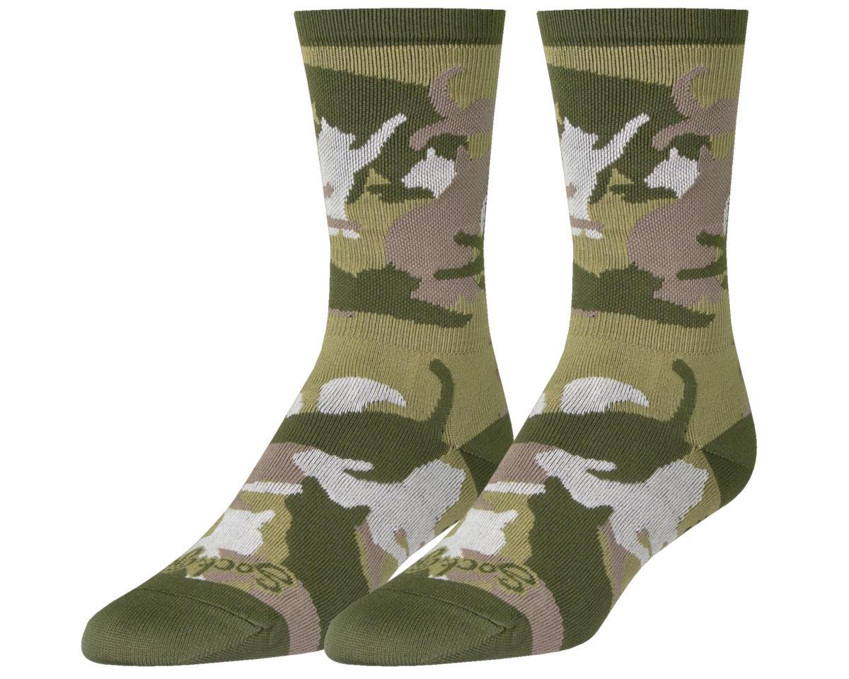 """Sockguy 6"""" Crew Socks (Catmo) (L/XL)"""
