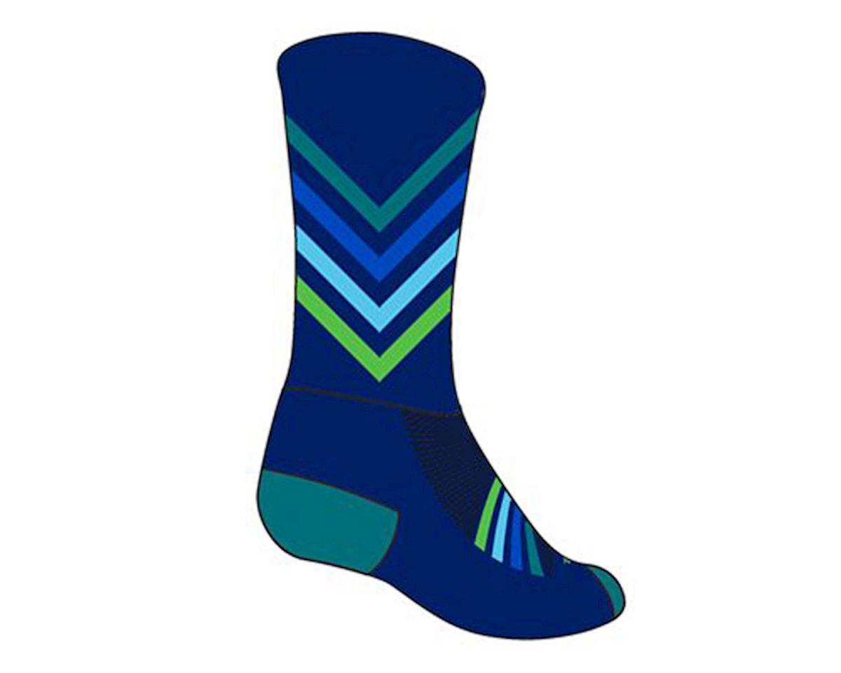 """Sockguy 6"""" Crew Socks (Chevron) (S/M)"""