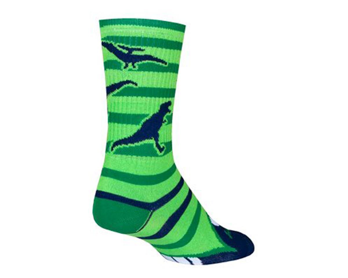 """Sockguy 6"""" Crew Socks (Dinotopia) (L/XL)"""