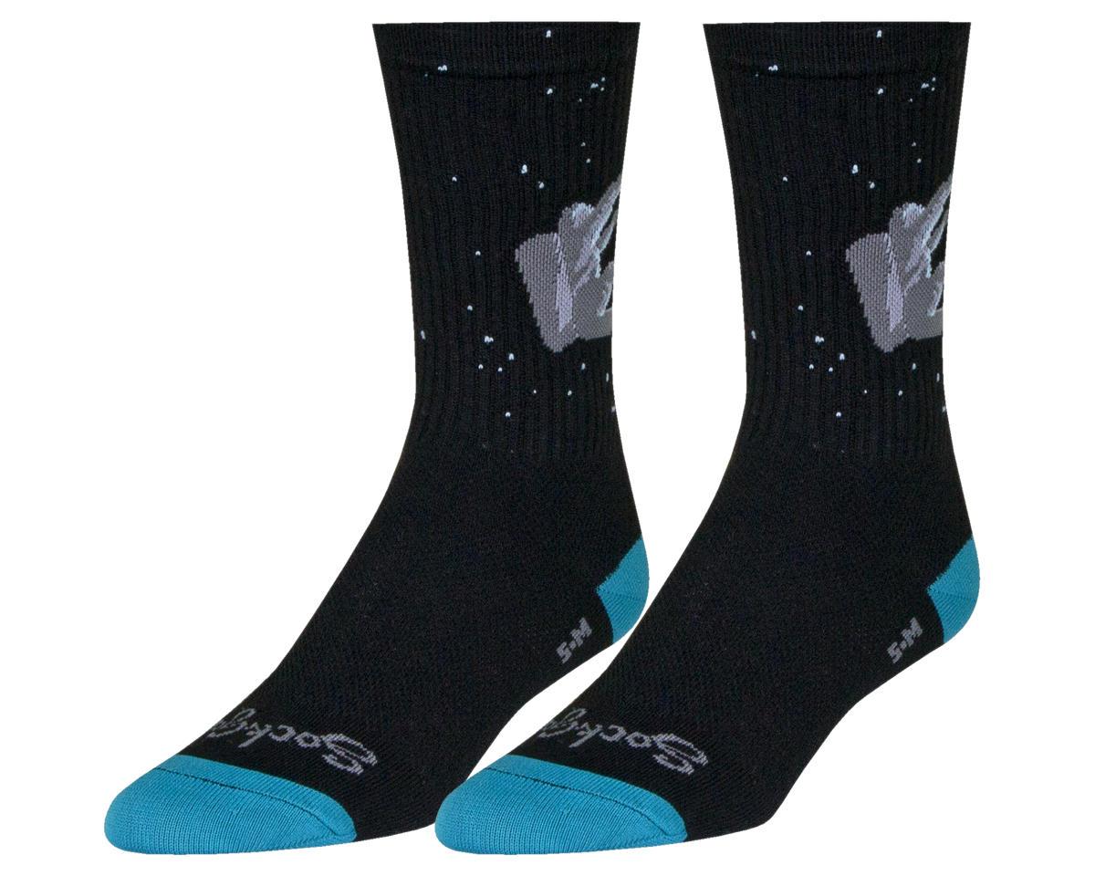 SockGuy Gnomies 6 Crew Sock Black Large//XL