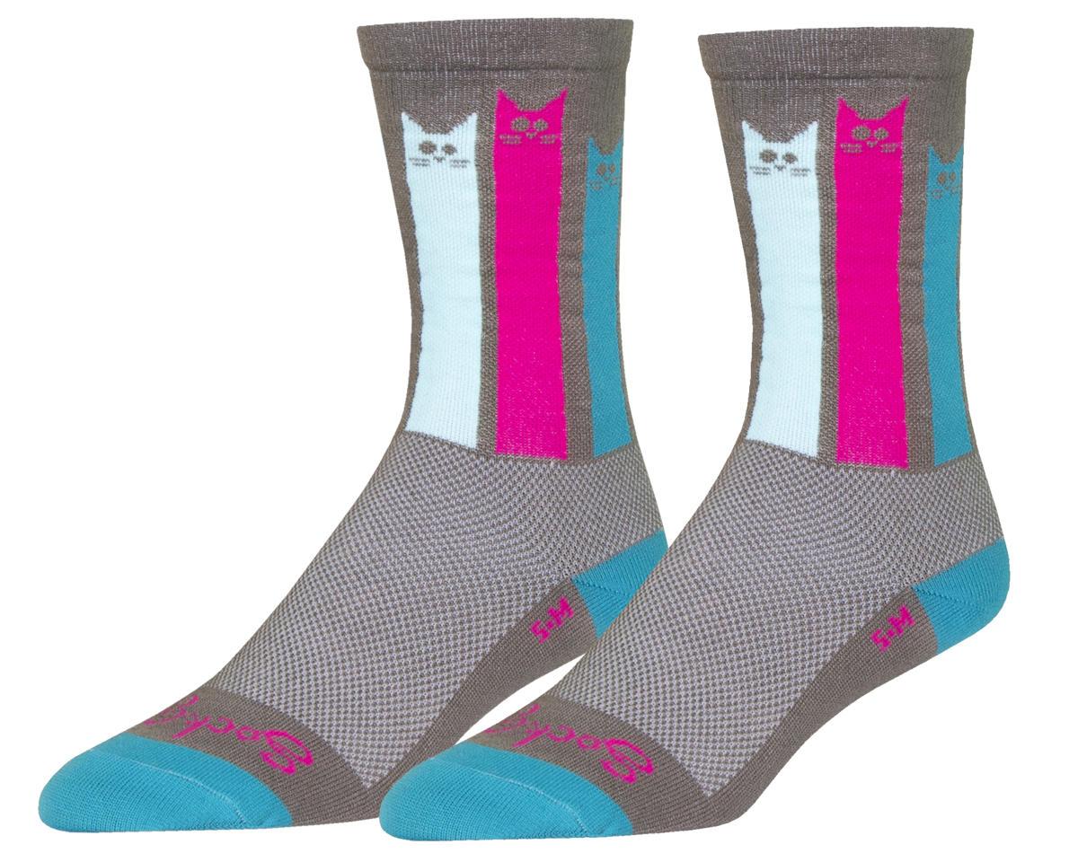 "Sockguy 6"" Crew Sock (Felines) (L/XL)"