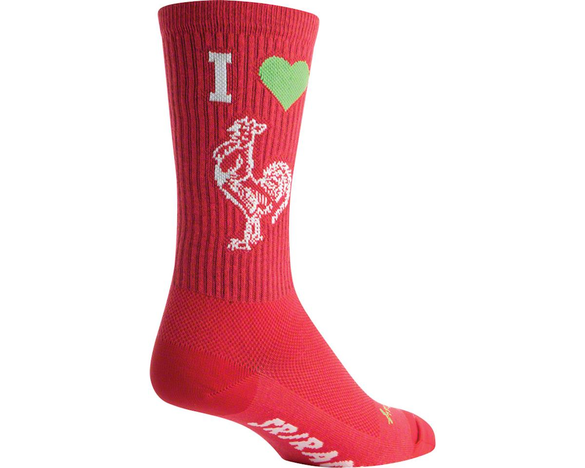 "Sockguy 8"" Socks (I Heart Sriracha) (S/M)"