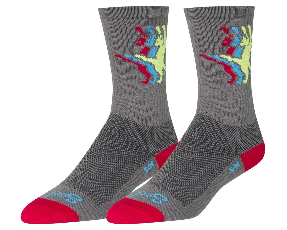 Kat-Fu Crew Socks (Grey)