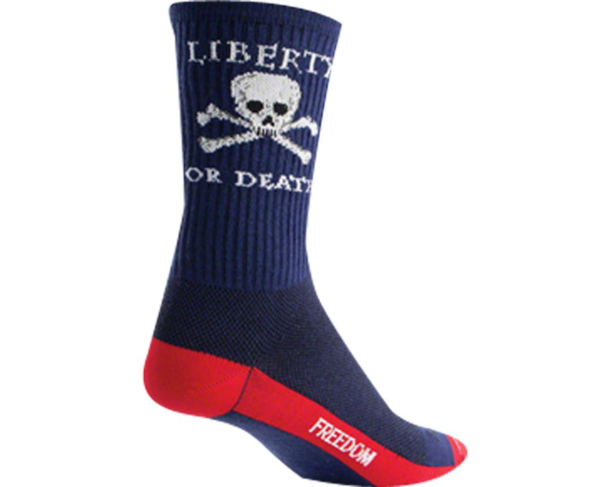 "Sockguy 6"" Socks (Liberty or Death) (L/XL)"