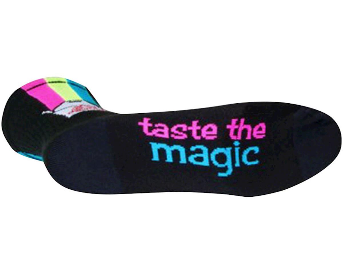Sockguy Magic Box Crew Socks (Black/Pink/Yellow/Blue) (M)