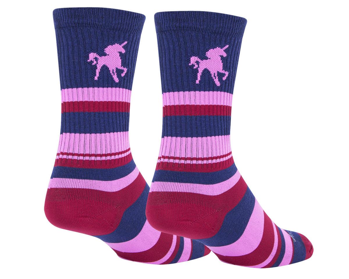 """Sockguy 6"""" Socks (Pink Unicorn) (L/XL)"""