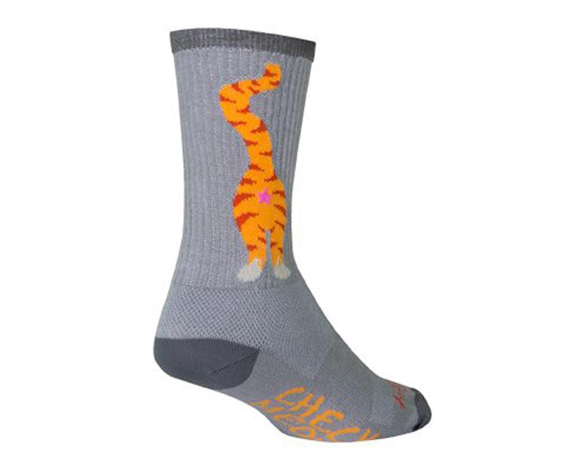 Sockguy Pucker Crew Socks (Grey/Orange)