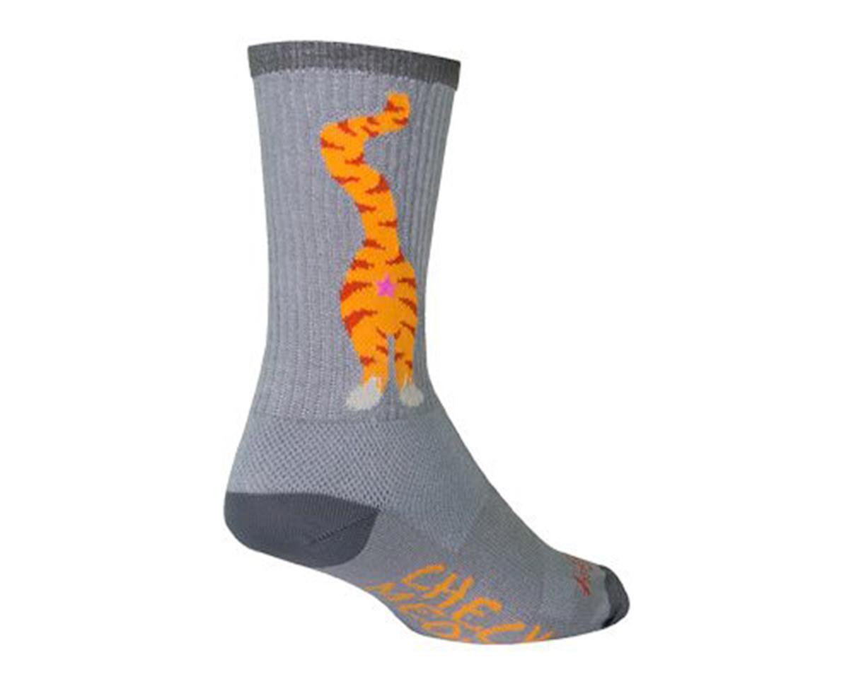 Sockguy Pucker Crew Socks (Grey/Orange) (L)