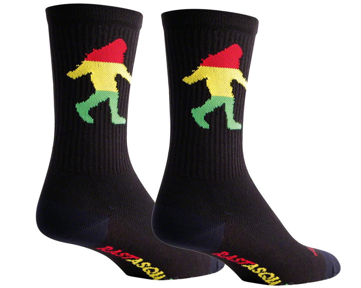 Sockguy Crew Rasta Squatch Sock (Black) (S/M)