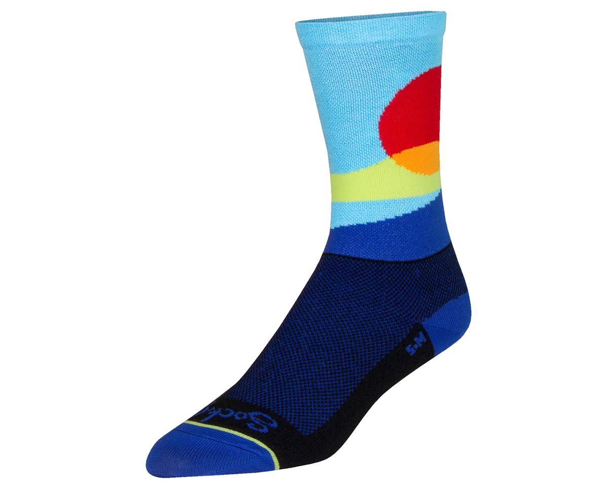 """Sockguy 6"""" Socks (Red Sun) (L/XL)"""