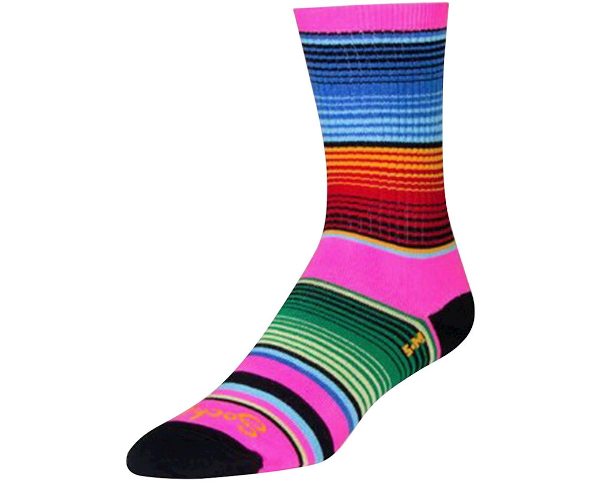 Sockguy Siesta Crew Socks (Pink/Blue/Orange)